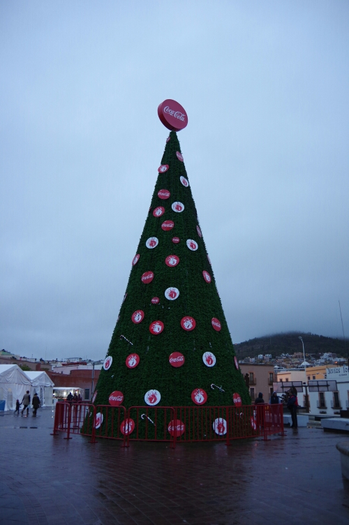 Sponsored Christmas tree in Zacatecas