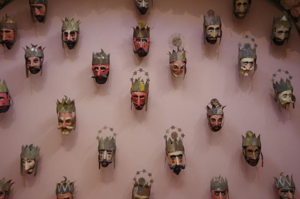 King masks (Rafael Coronel museum)