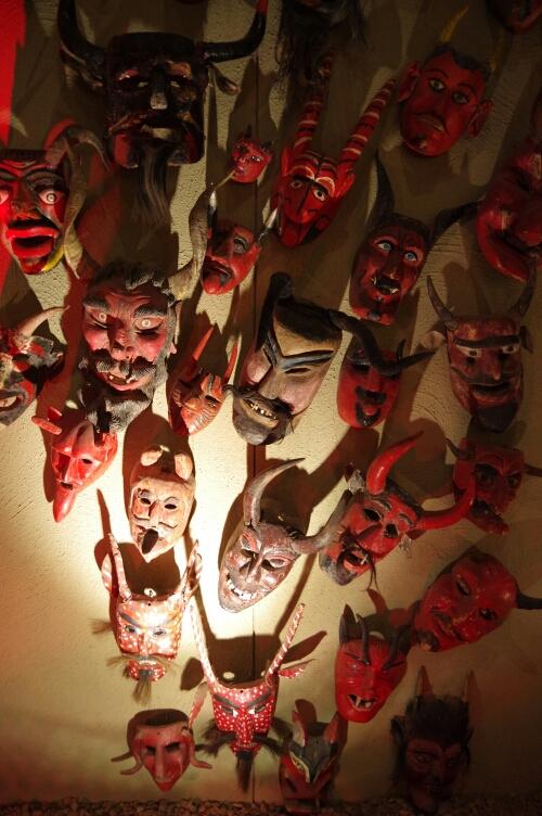 Devil masks (Rafael Coronel museum)