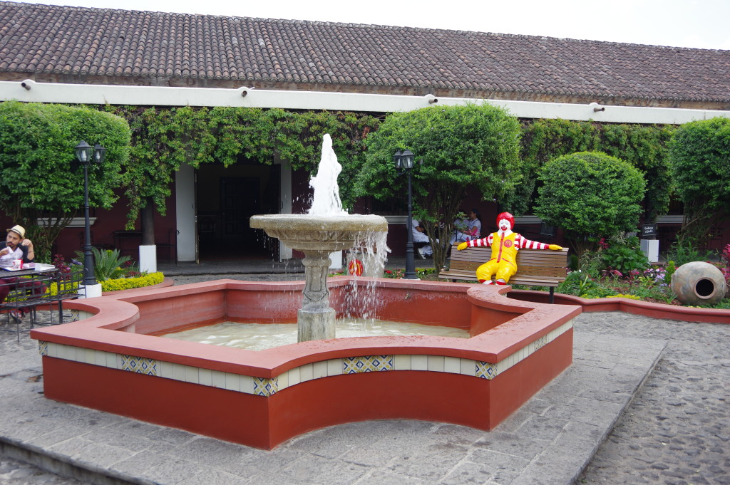Courtyard of the local McDonalds - inviting enough that I ate there even though I'm not a big fan of their food