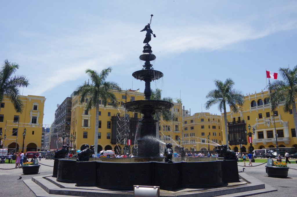 Fountain on Lima's main square