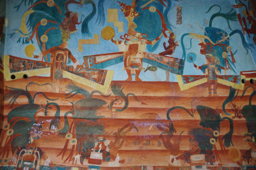 Mural inside the temple
