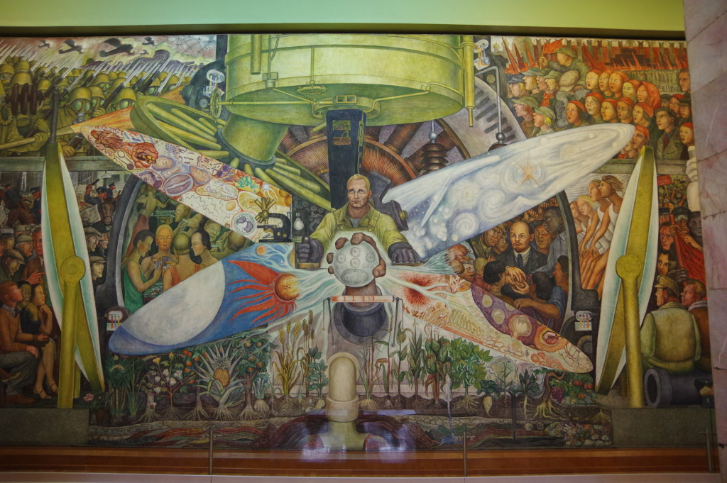 Diego Rivera mural in the Bellas Artes palace