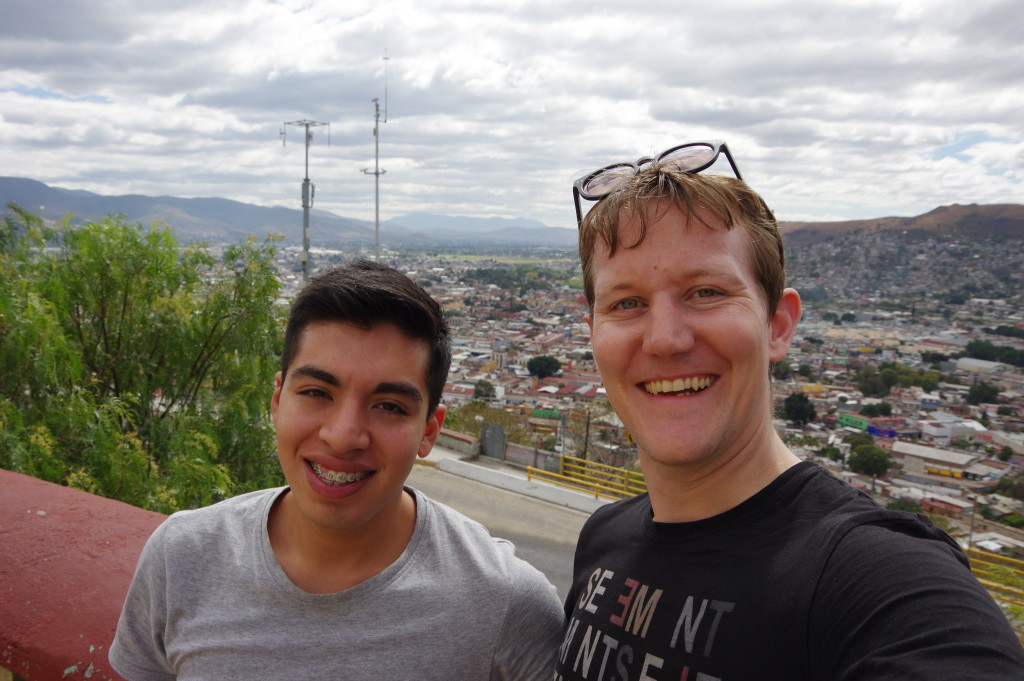 Me and my host above Oaxaca