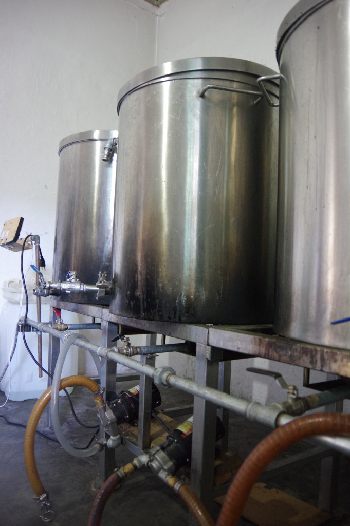One-hectoliter brewing setup