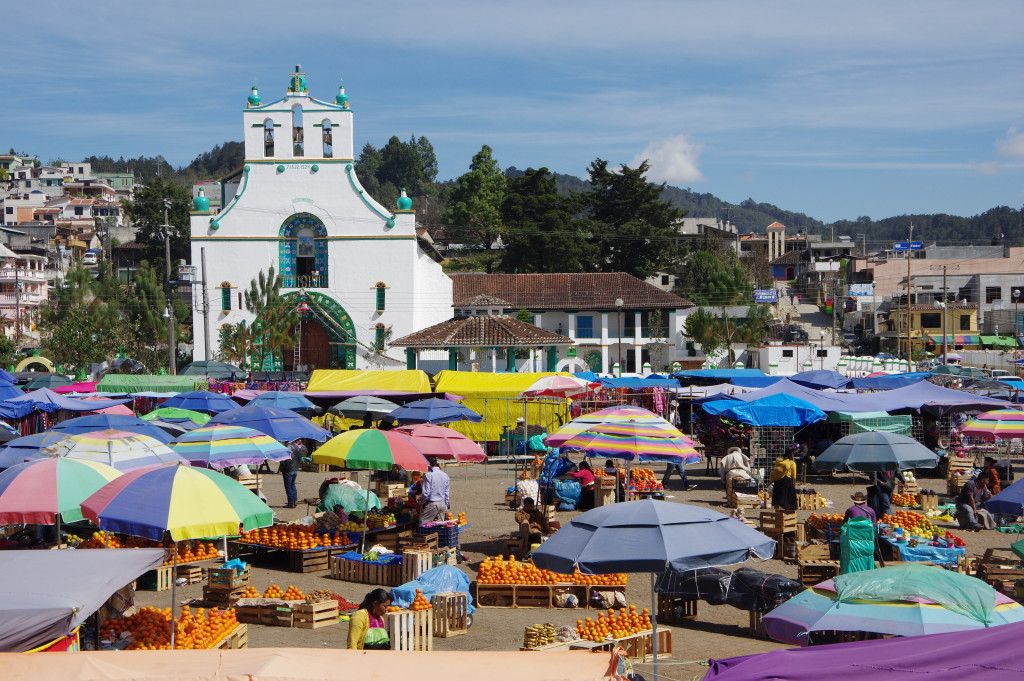 San Juan Chamula church and market square