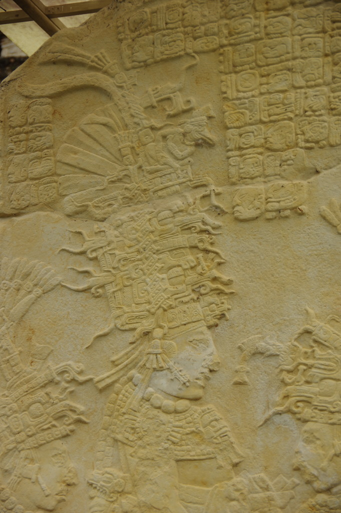 Bonampak: Close-up of a well-preserved stele