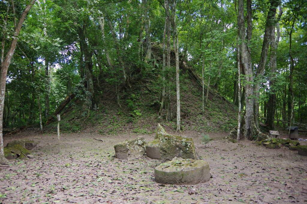 Mound with a temple inside
