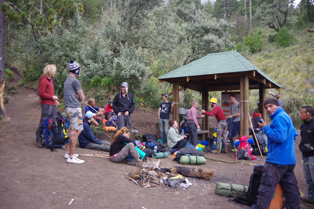 Break at one of the shelters