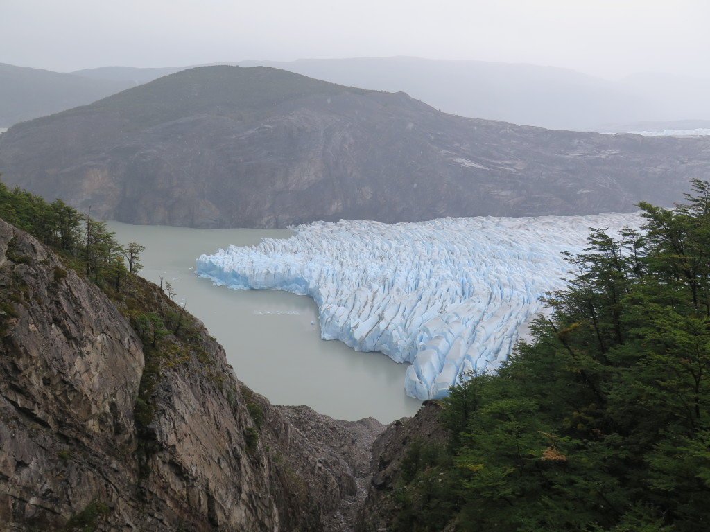 View of Glaciar Grey from one of the suspension bridges