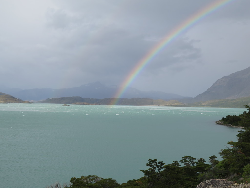 Rainbow over Lago Nordenskjöld