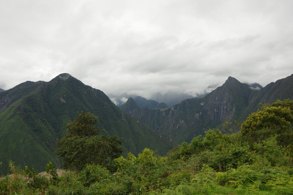 A first glimpse of Machu Picchu