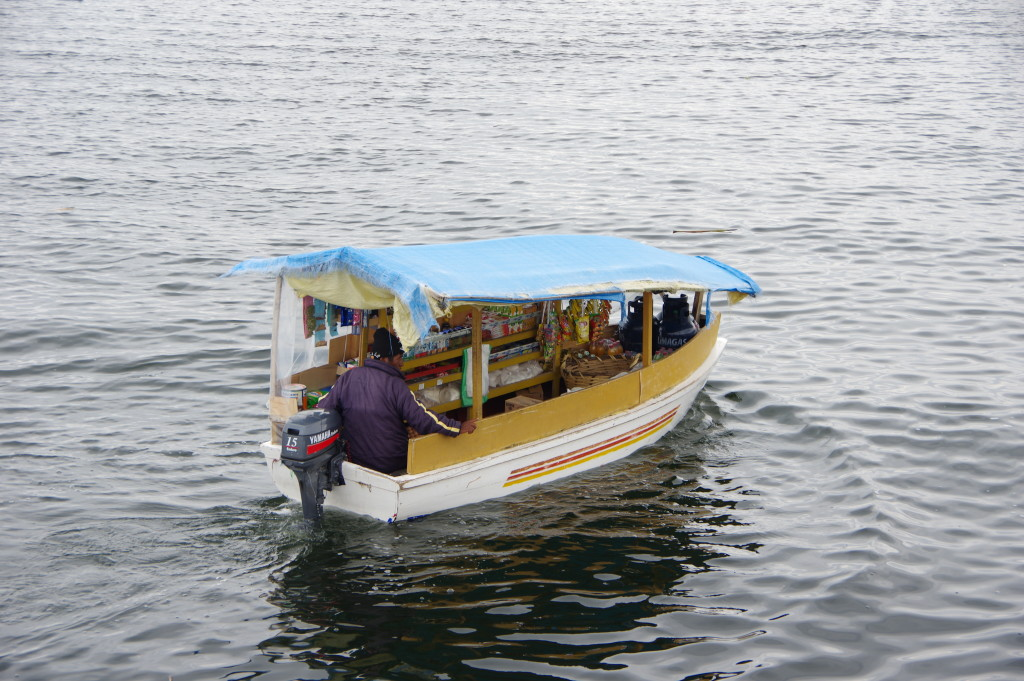 Mobile grocery store on the lake