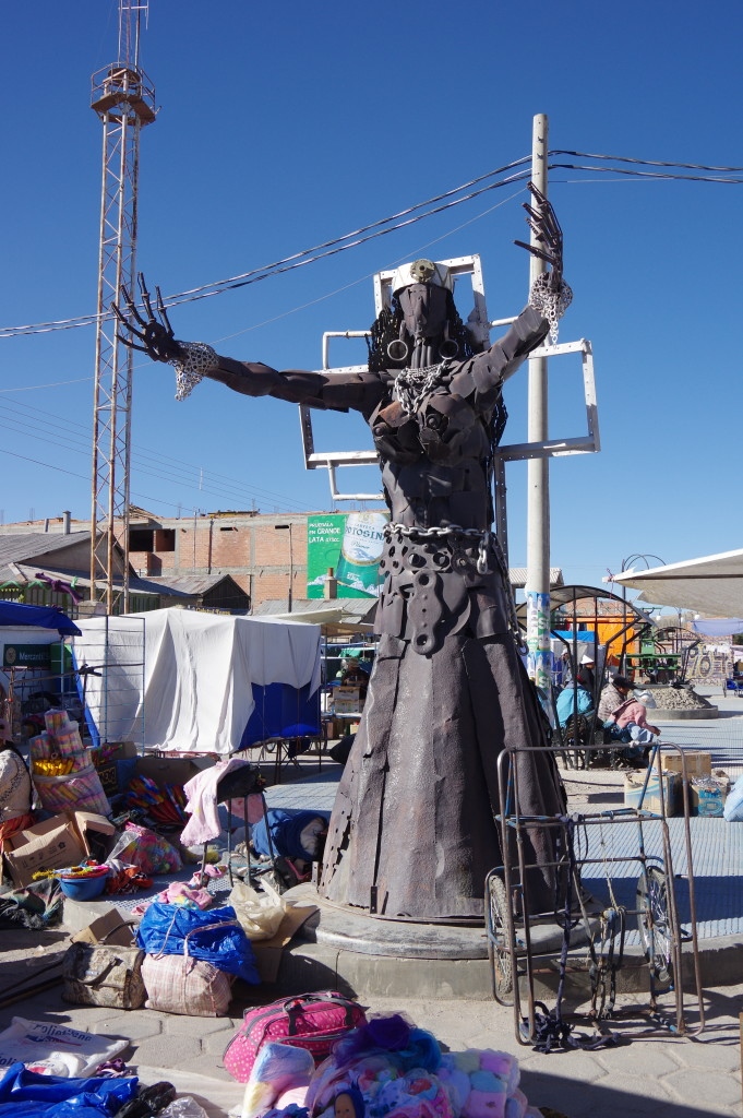 Sculpture in Uyuni