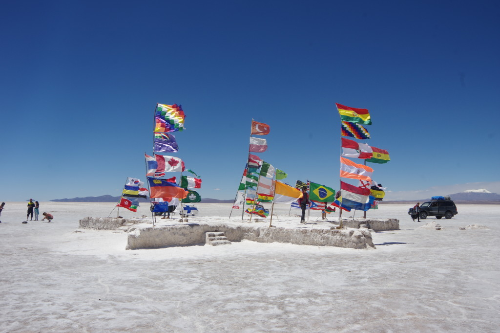 Flags near the Salt Hotel