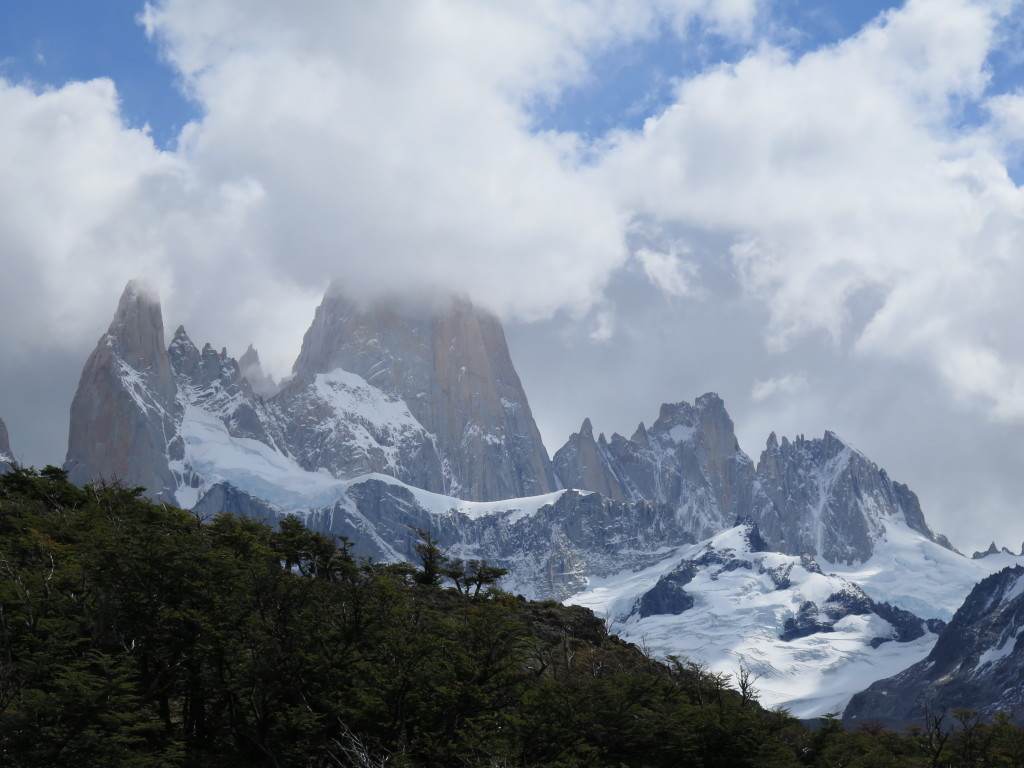 Mt. Fitz Roy hiding in a cloud