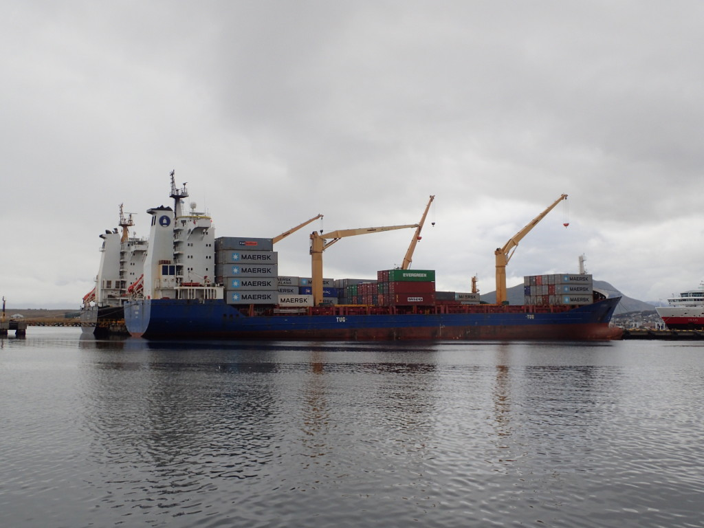 Usuhaia is still an important port for boats calling at Antarctica, among others